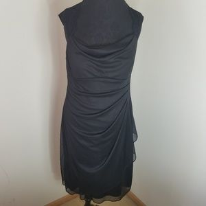 Scarlett Black Dress With Ruched Back and Side 14